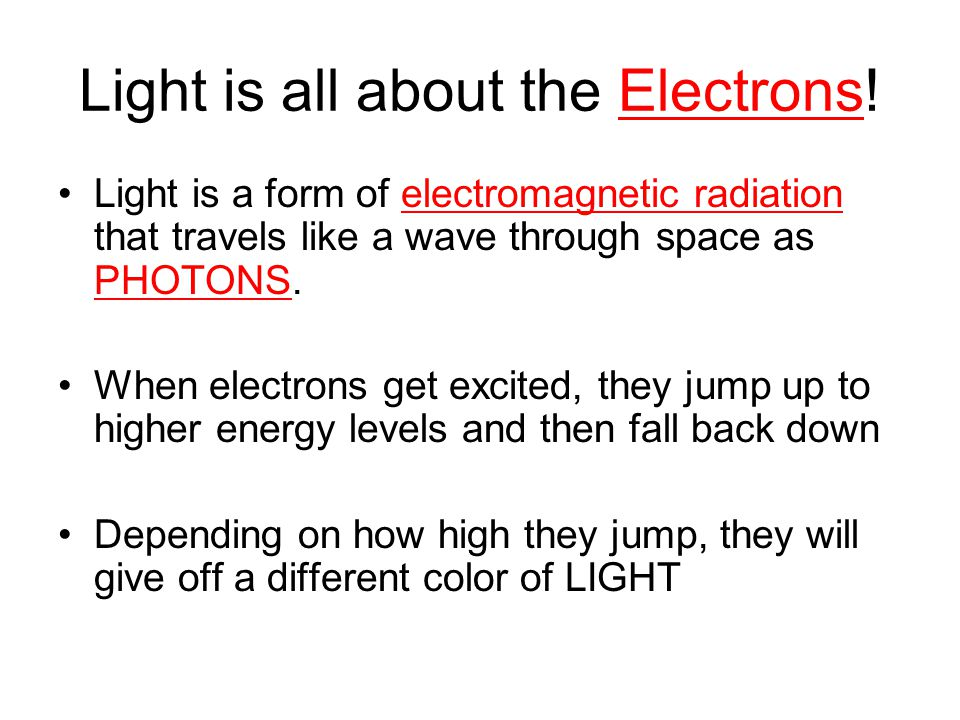 Light is all about the Electrons!