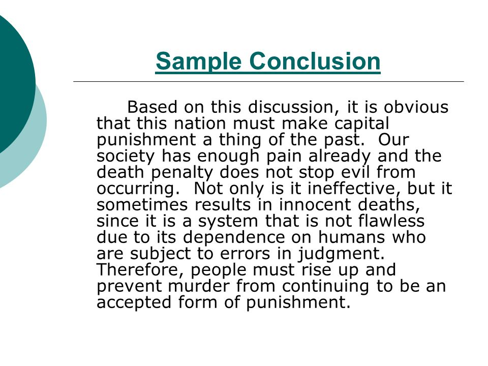 Essay capital punishment conclusion