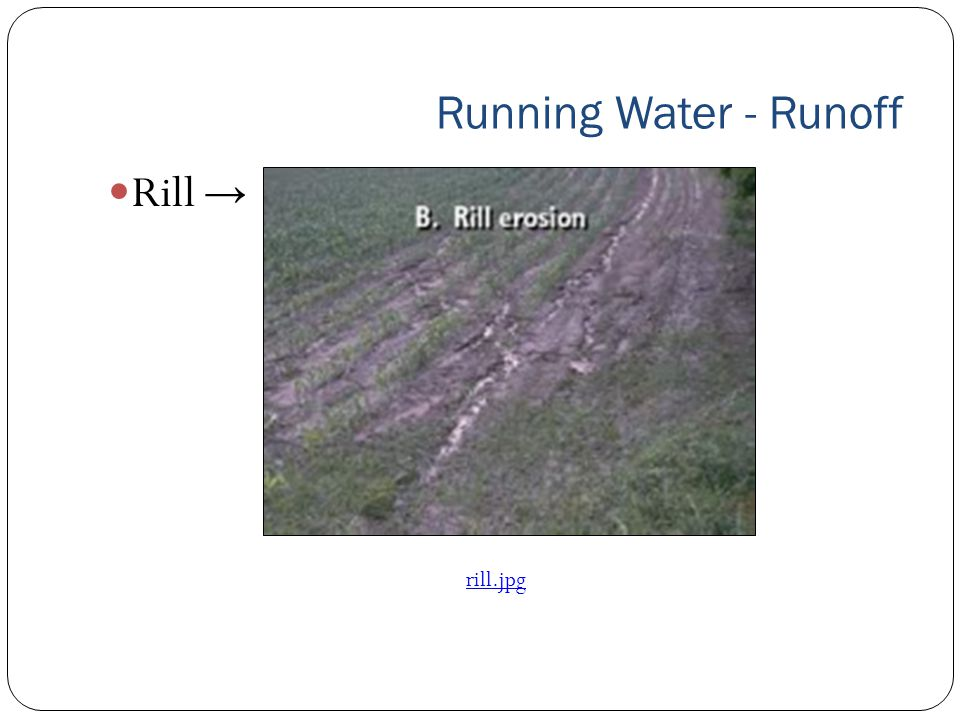 Running Water - Runoff Rill → rill.jpg