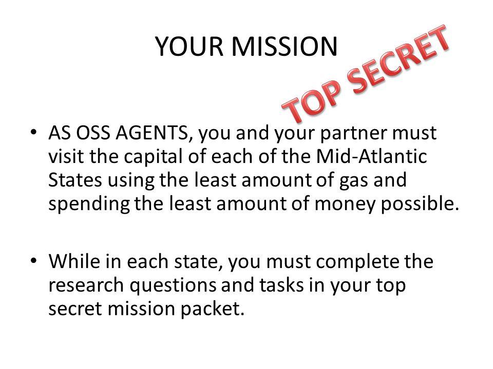 TOP SECRET YOUR MISSION