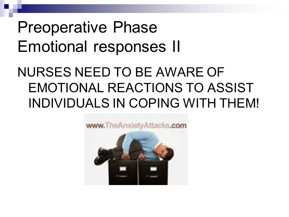 Preoperative Phase Emotional responses II