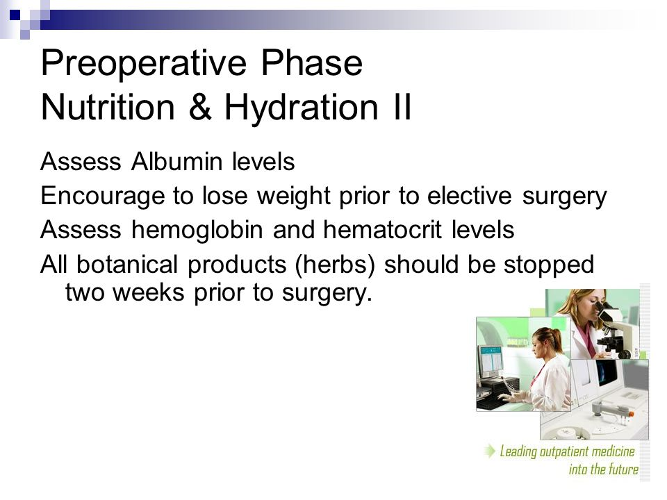 Preoperative Phase Nutrition & Hydration II