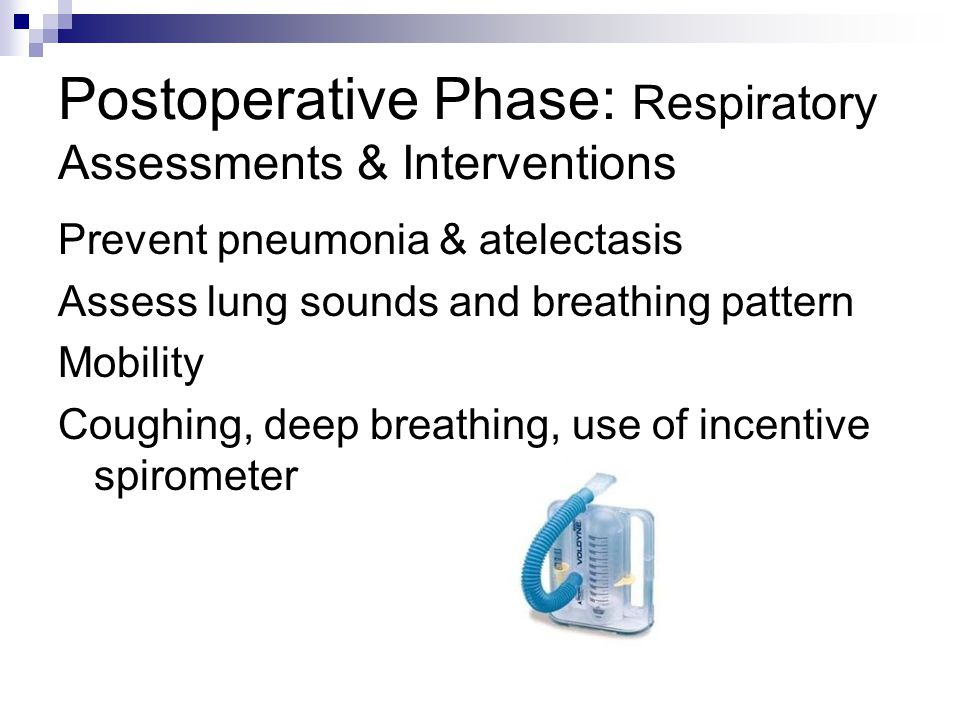 Postoperative Phase: Respiratory Assessments & Interventions