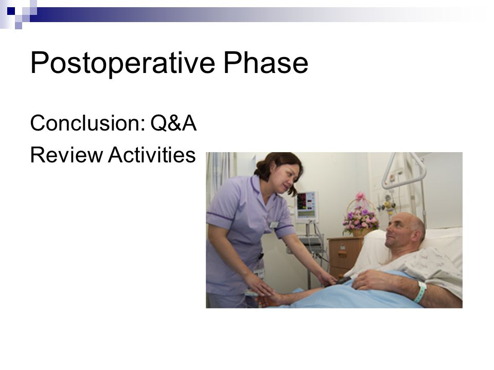 Postoperative Phase Conclusion: Q&A Review Activities