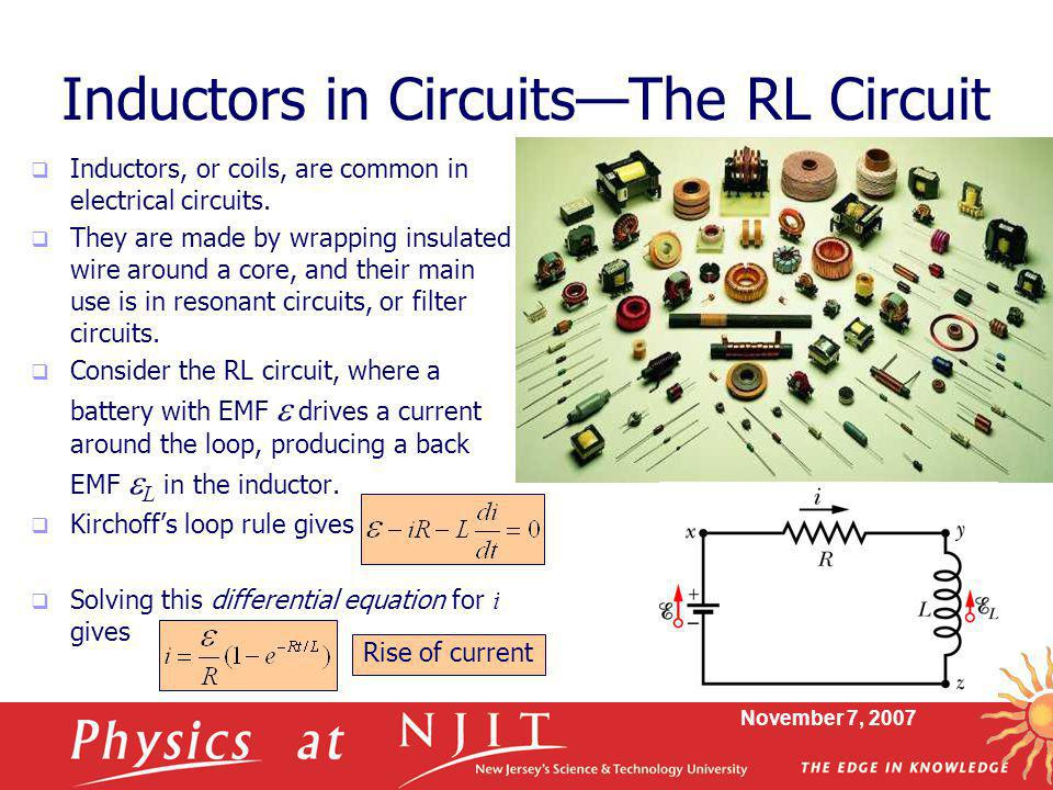 Inductors in Circuits—The RL Circuit