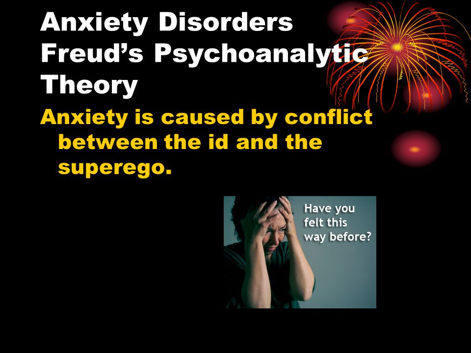 Anxiety Disorders Freud's Psychoanalytic Theory