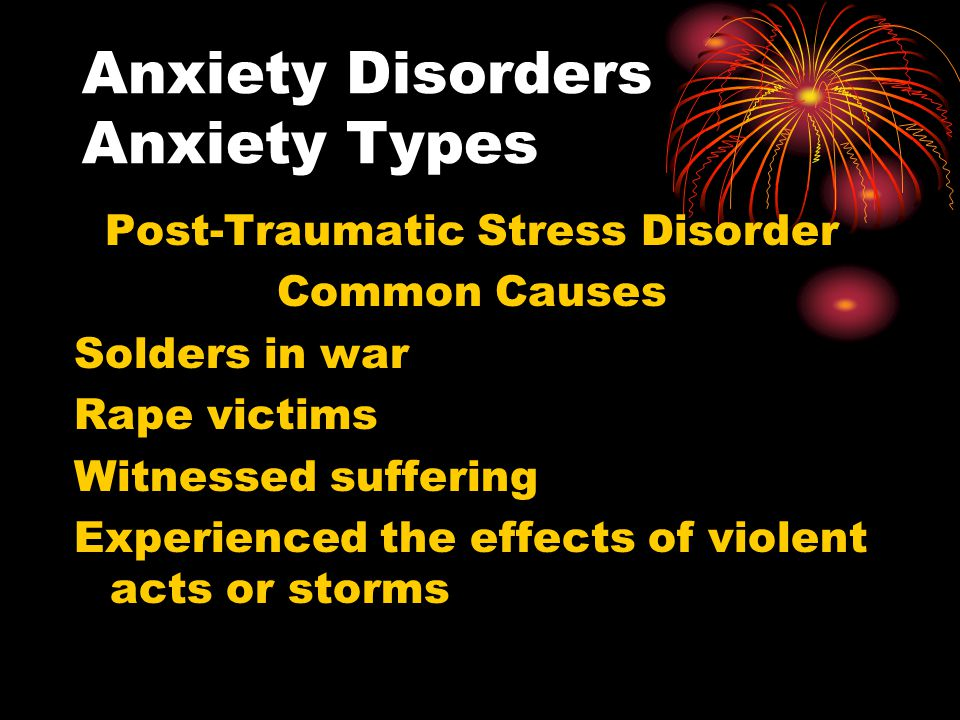 Anxiety Disorders Anxiety Types