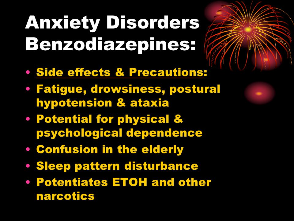 Anxiety Disorders Benzodiazepines: