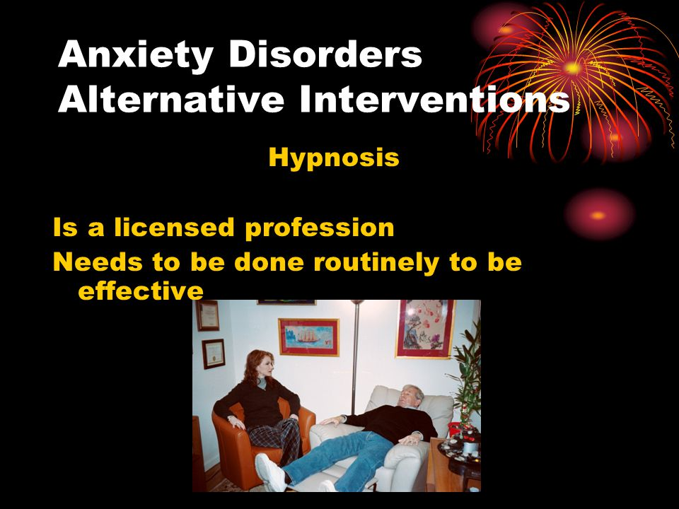 Anxiety Disorders Alternative Interventions