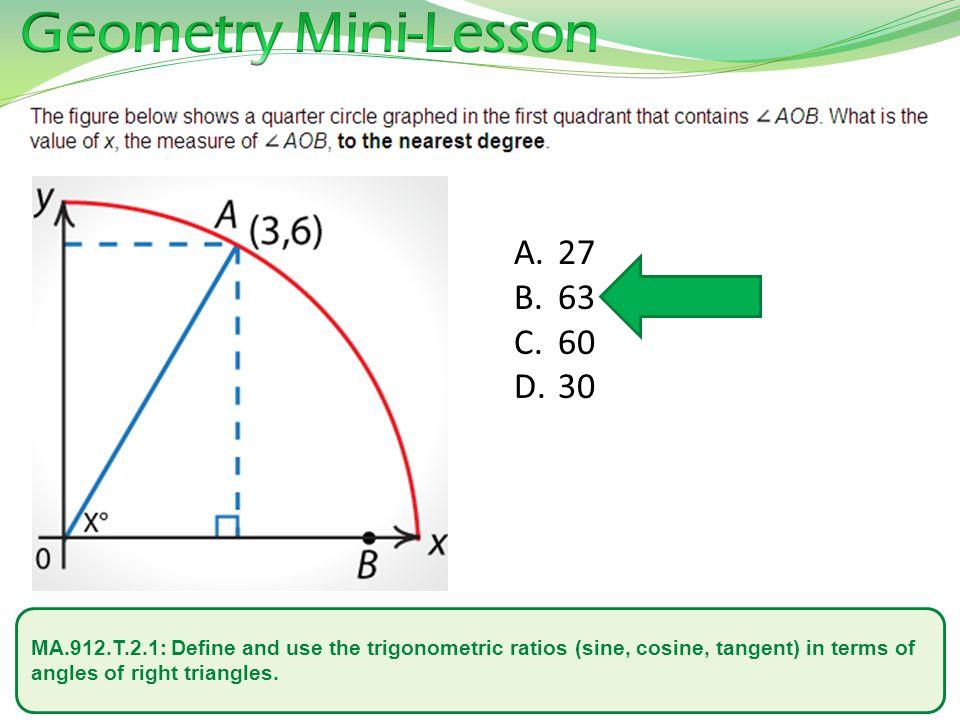 Geometry Mini-Lesson 27. 63. 60. 30.