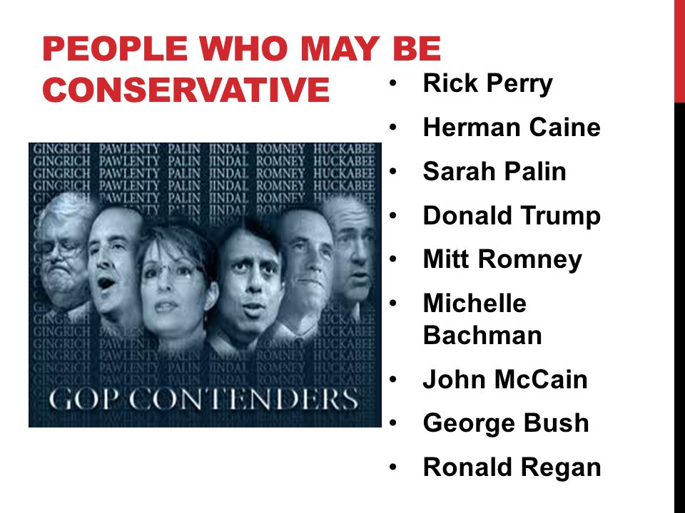 People who may be conservative