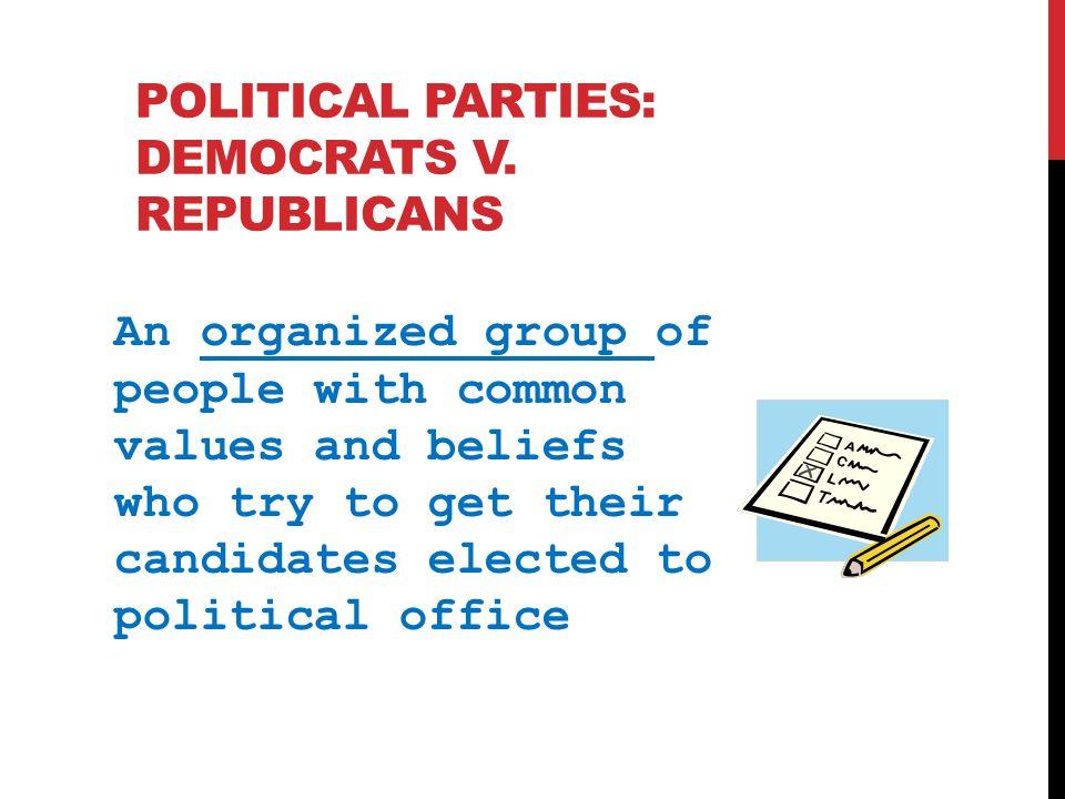 Political Parties: Democrats v. republicans