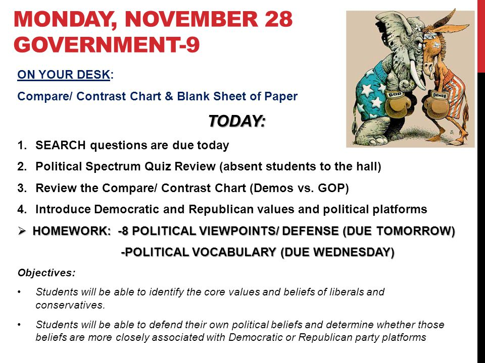monday, November 28 Government-9