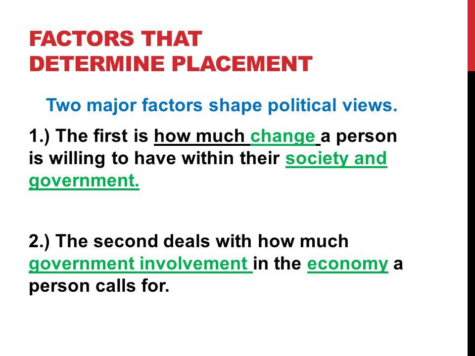 Factors That Determine Placement