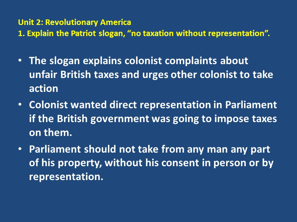 Unit 2: Revolutionary America 1