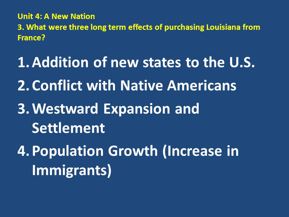 Addition of new states to the U.S. Conflict with Native Americans