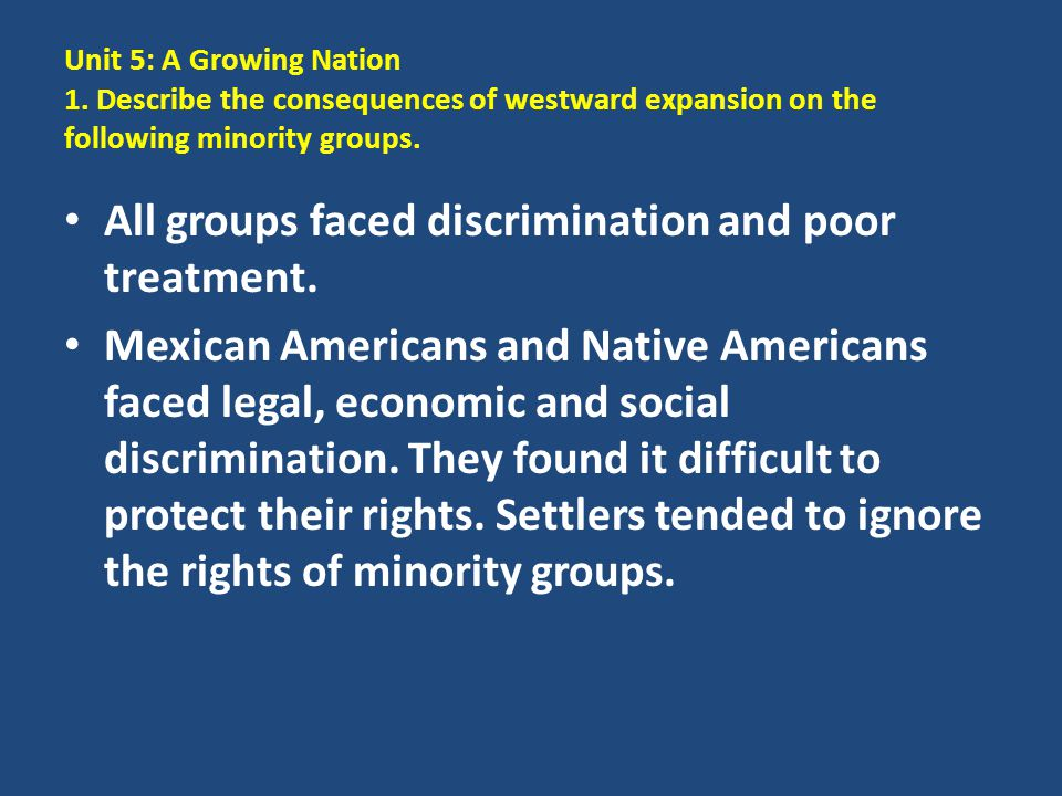 All groups faced discrimination and poor treatment.
