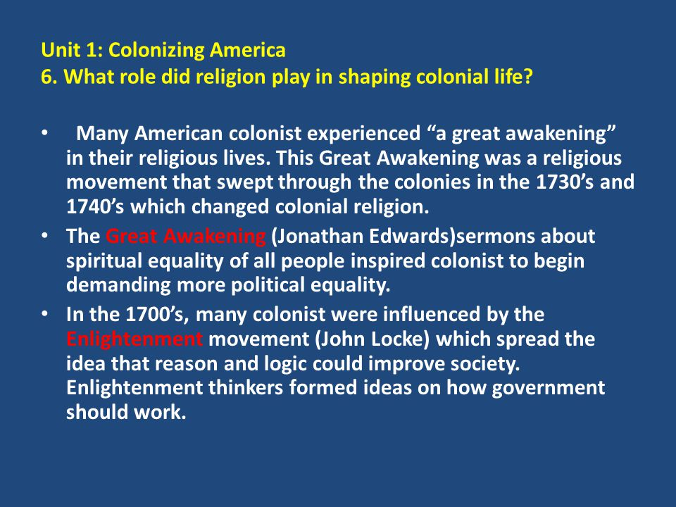 Unit 1: Colonizing America 6