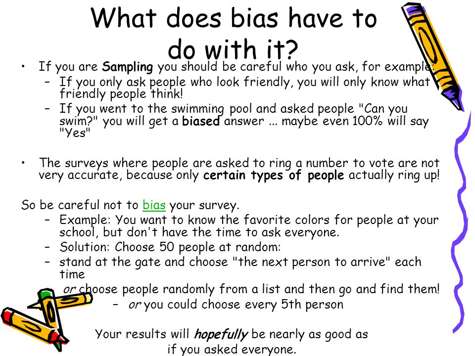 What does bias have to do with it