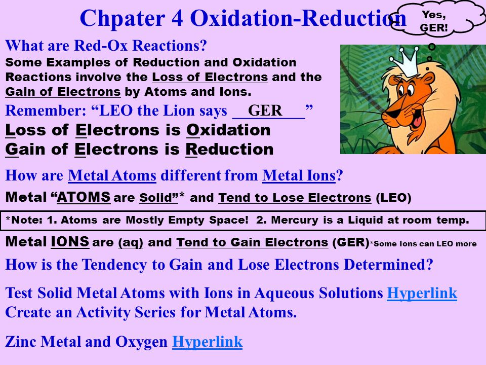 Chpater 4 Oxidation-Reduction