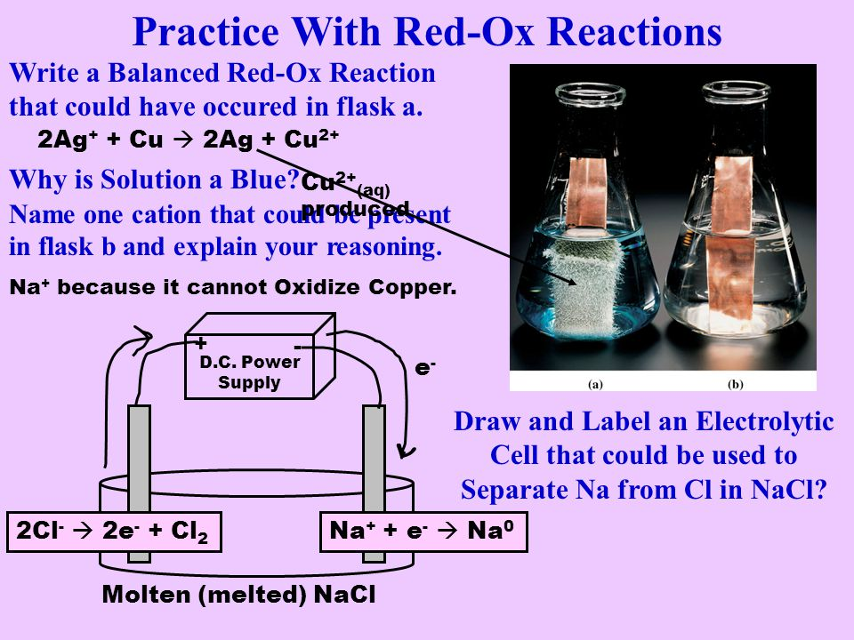 Practice With Red-Ox Reactions