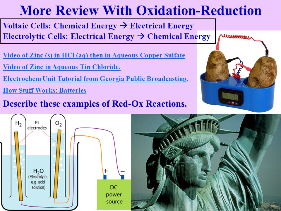More Review With Oxidation-Reduction