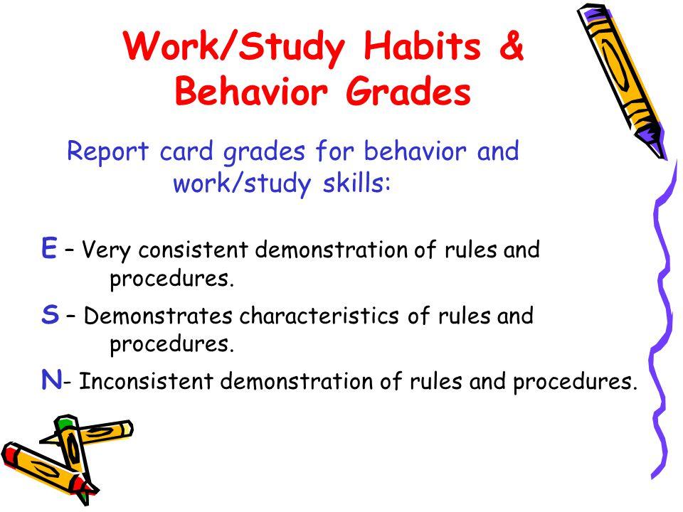 Work/Study Habits & Behavior Grades