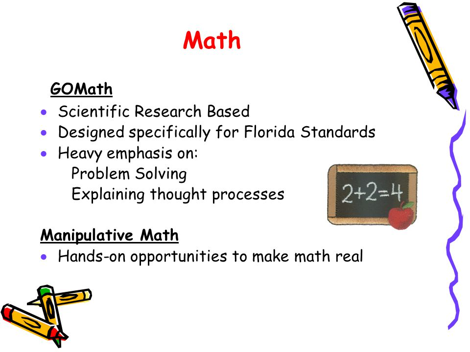 Math GOMath Scientific Research Based