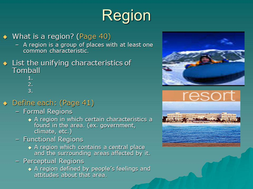 Region What is a region (Page 40)