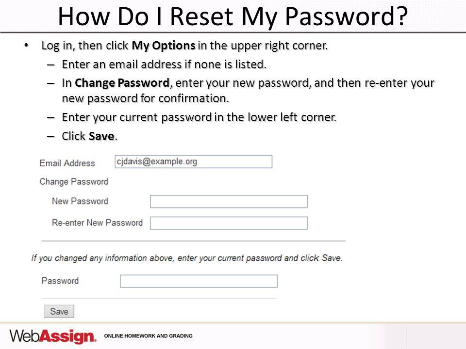 How Do I Reset My Password