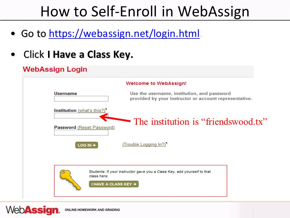 How to Self-Enroll in WebAssign