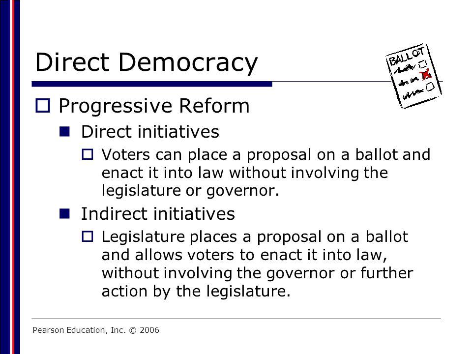 Direct Democracy Progressive Reform Direct initiatives