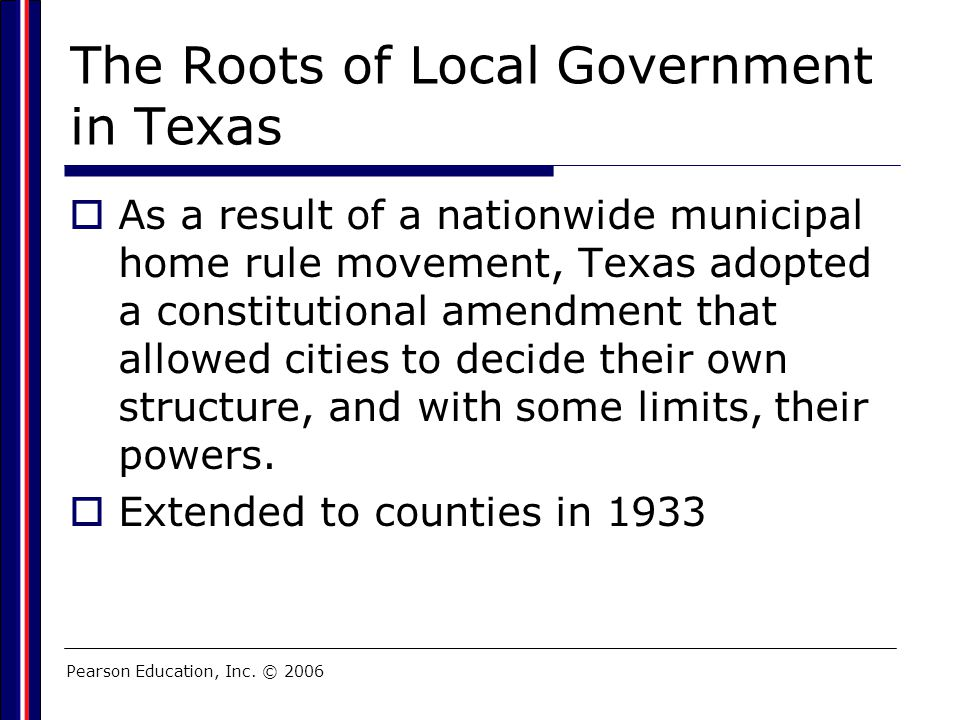 The Roots of Local Government in Texas