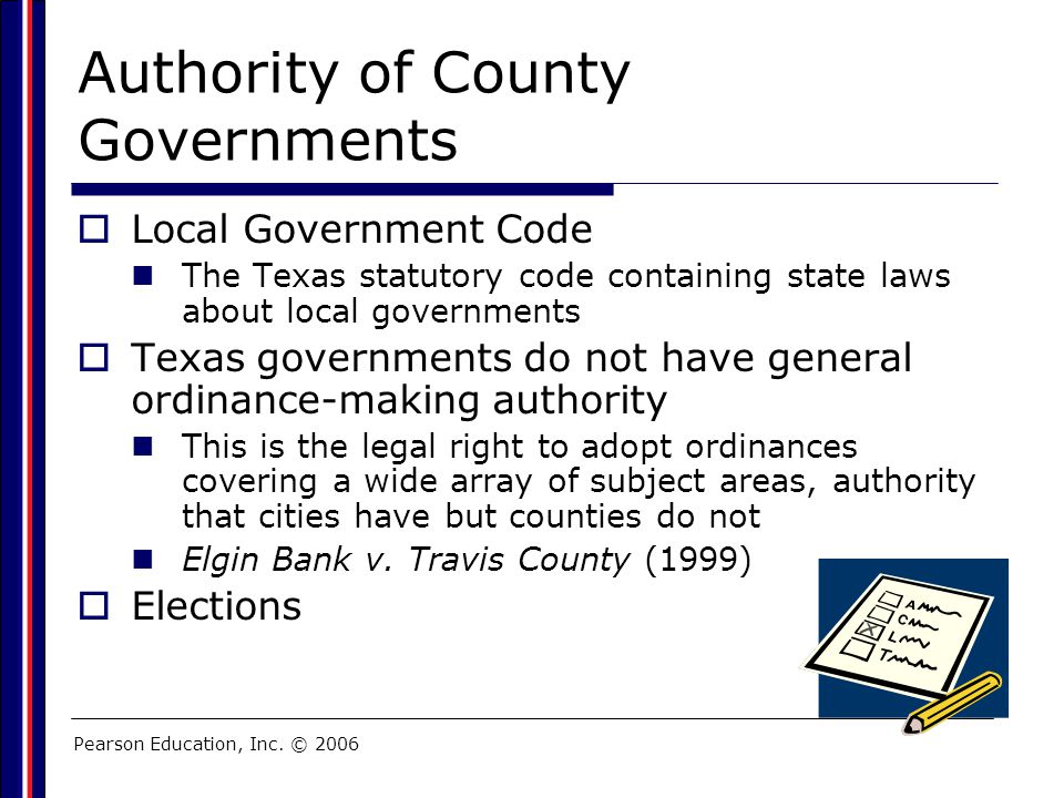Authority of County Governments
