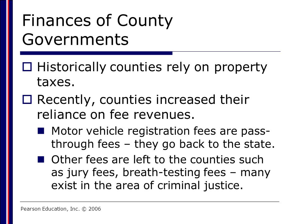 Finances of County Governments