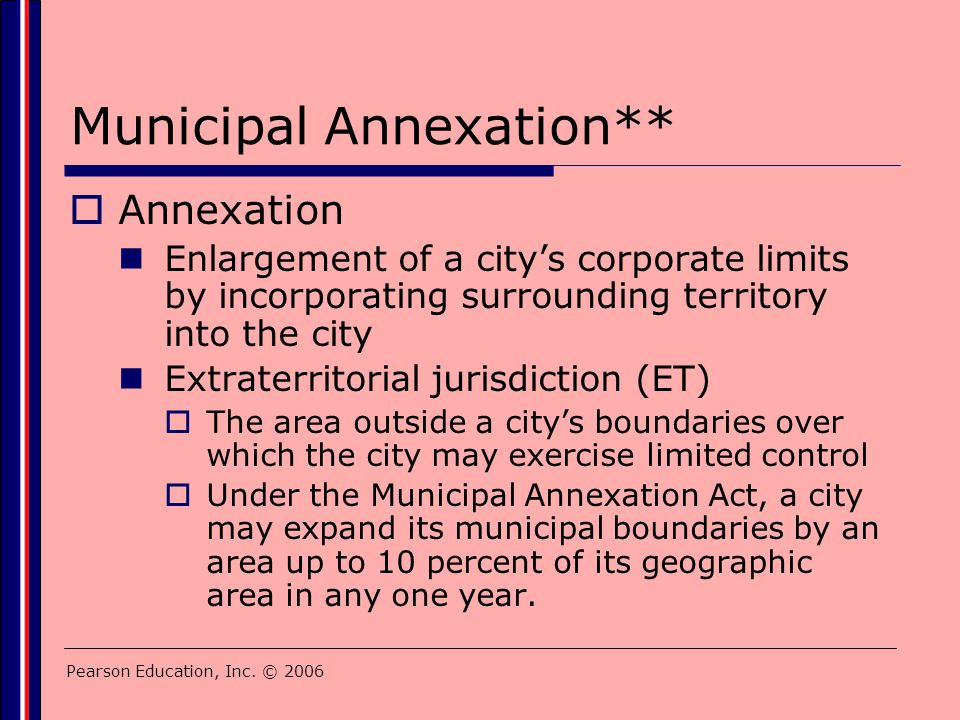 Municipal Annexation**