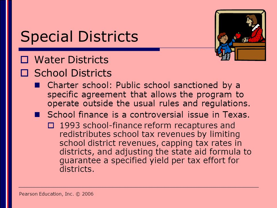 Special Districts Water Districts School Districts