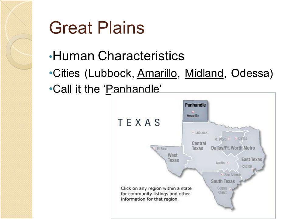Great Plains Human Characteristics