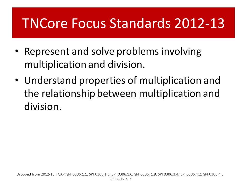 TNCore Focus Standards 2012-13