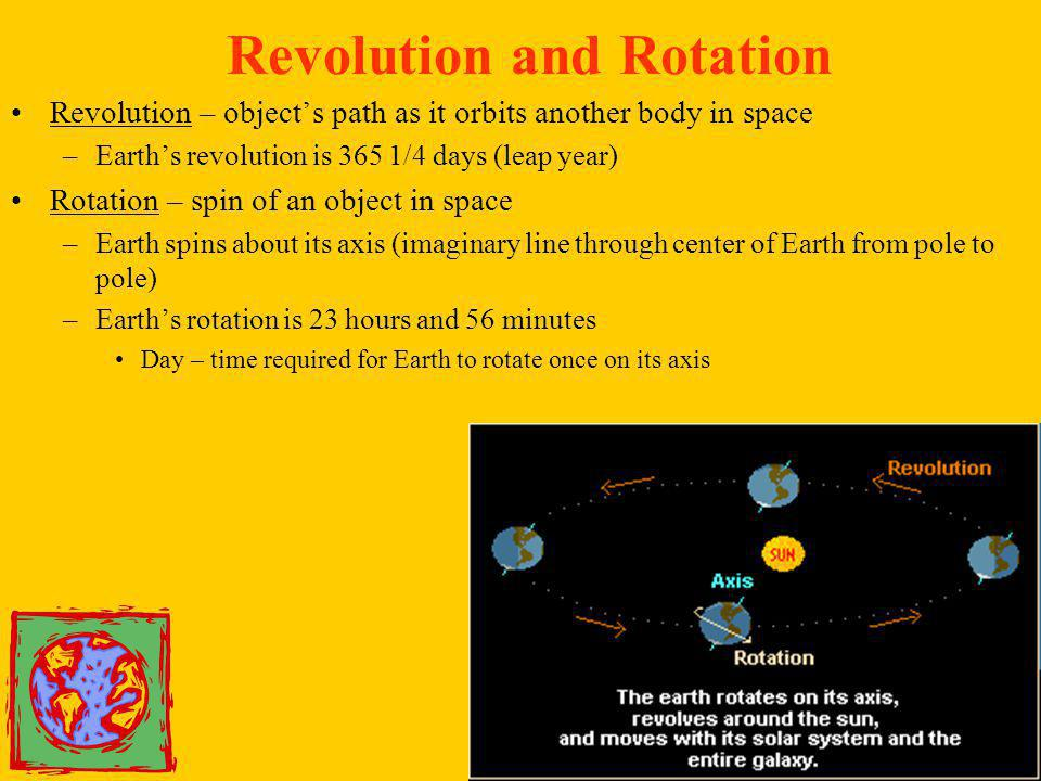 Revolution and Rotation