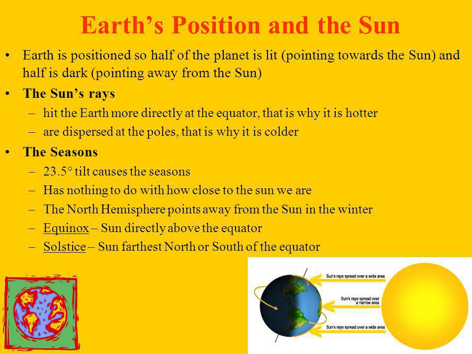 Earth's Position and the Sun