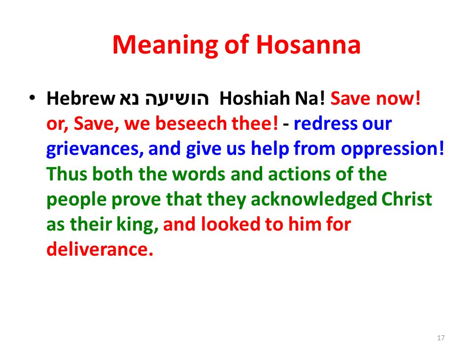 Meaning of Hosanna