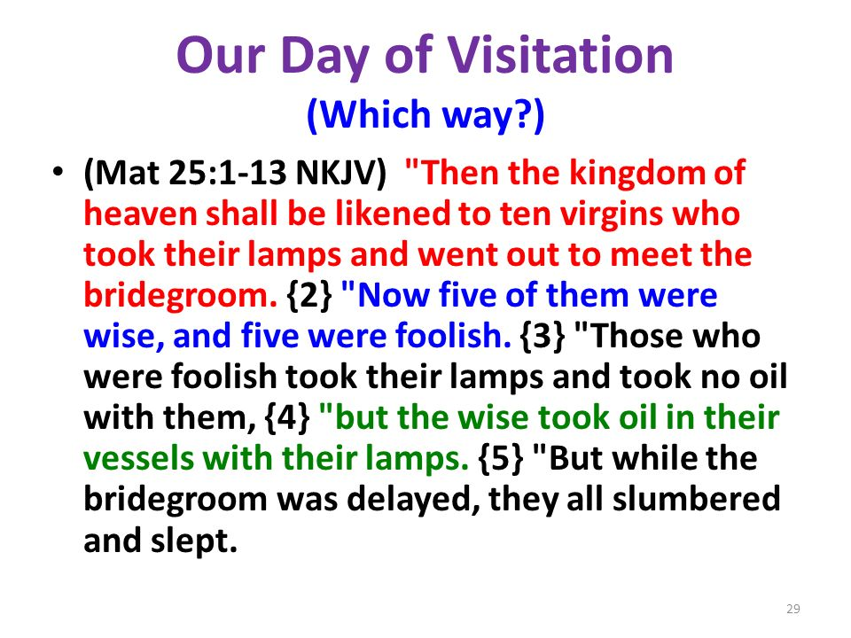 Our Day of Visitation (Which way )