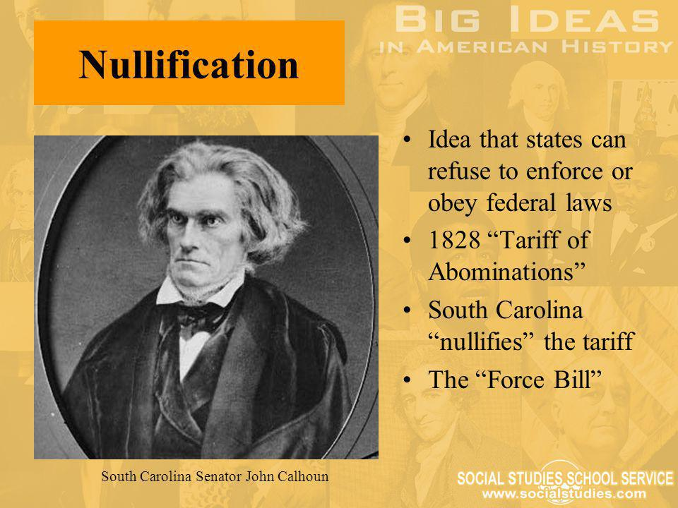 South Carolina Senator John Calhoun