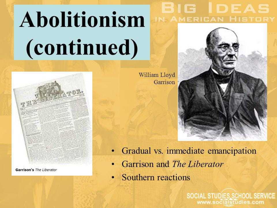 Abolitionism (continued)