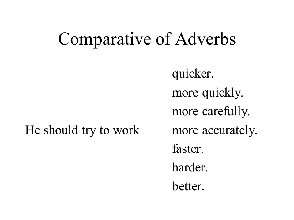 Comparative of Adverbs