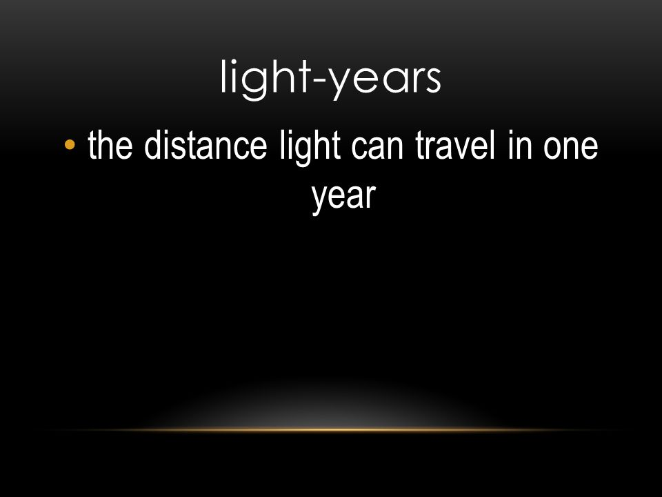 the distance light can travel in one year
