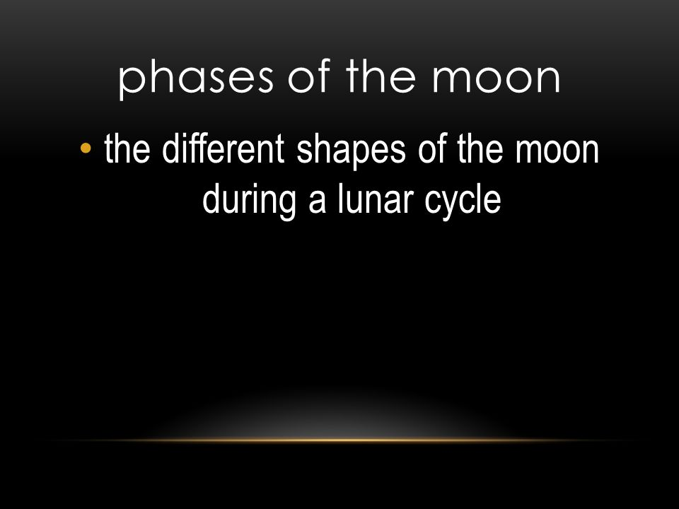 the different shapes of the moon during a lunar cycle