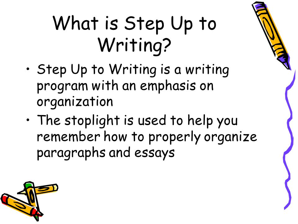 What is Step Up to Writing