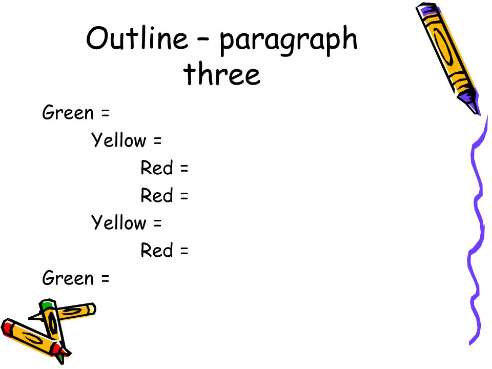 Outline – paragraph three